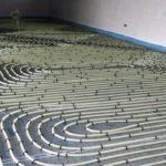 screed floor underfloor heating
